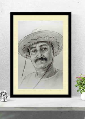 charcoal portrait artist in delhi