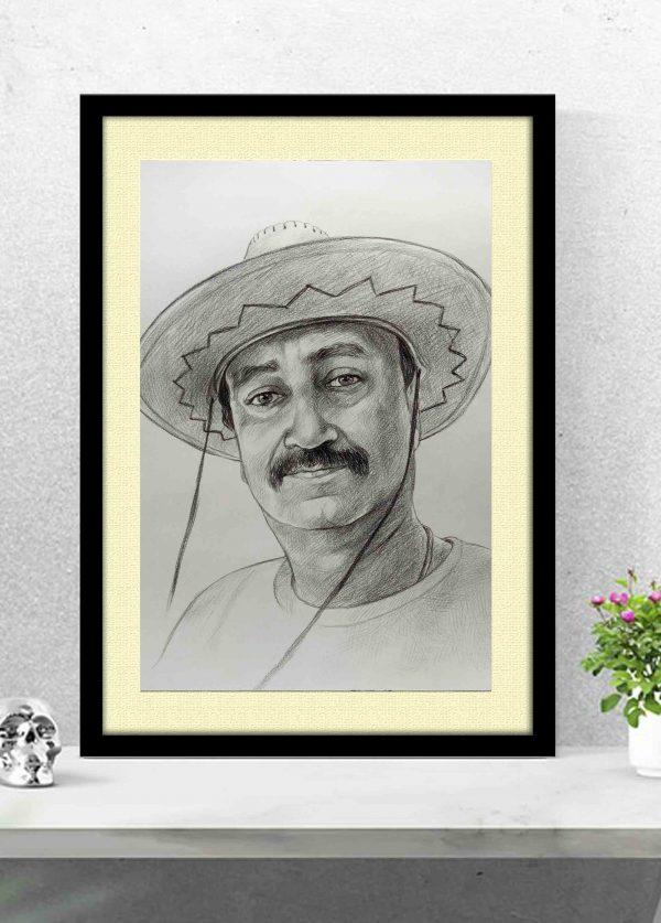 charcoal portrait artist in delhi